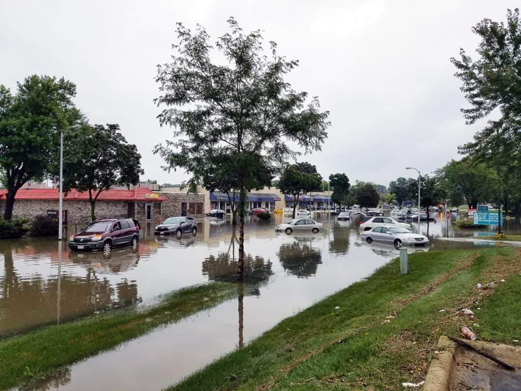 A flooded parking lot may confuse AI but not humans